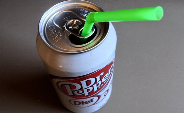 Using a straw when sipping on soda lessens the chance of cavities.