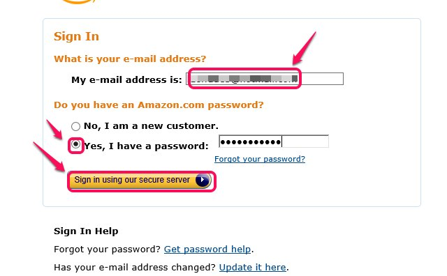 Type your registered email address and password.