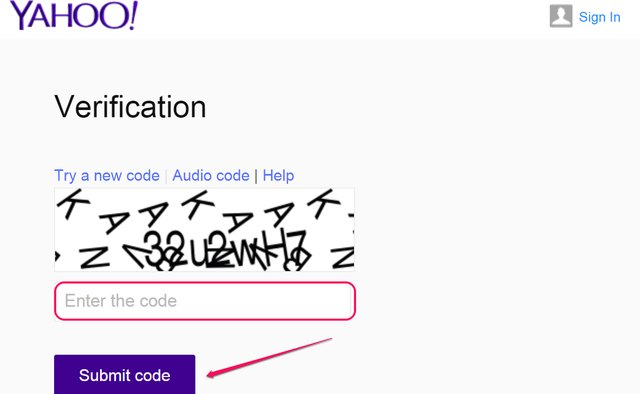 Verification code and