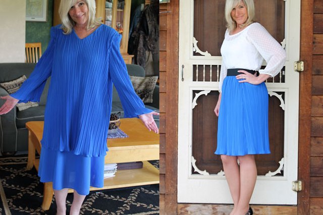 Plenty of Pleats Skirt Refashion