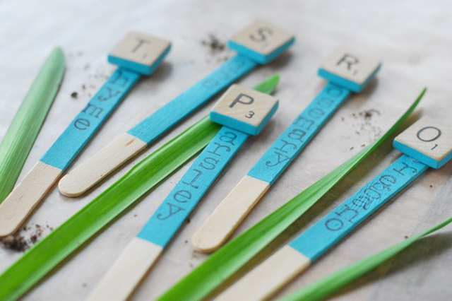 Dress Up Your Garden with Homemade Letter Tile Markers