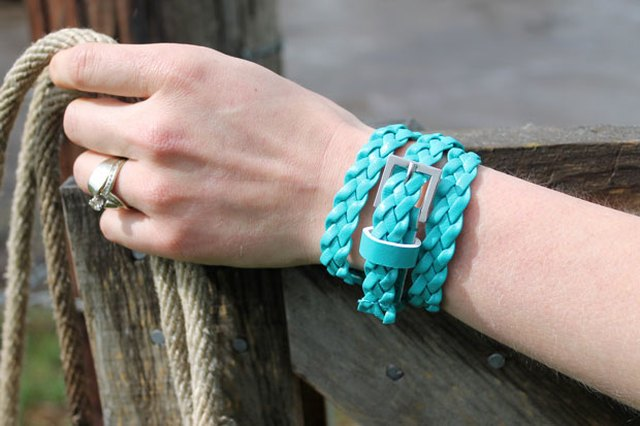 DIY: Two Upcycled Belt Bracelets