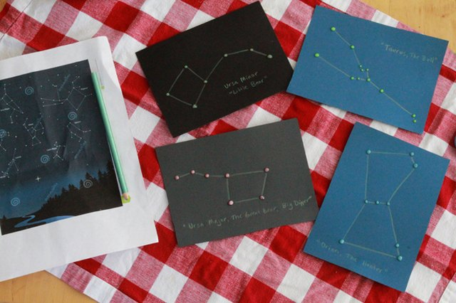 Glow-in-the-Dark Constellation Camp-Out Maps