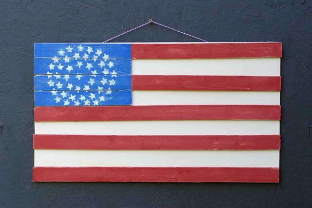 Get the Popular Rustic Look of a Wood Plank Flag Without the Price