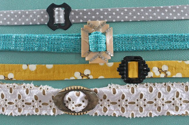Upcycle Old Belt Buckles Into Colorful Fabric Belts