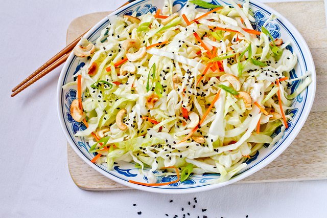 Cabbage Salad with Roasted Cashews and Sesame Maple Dressing
