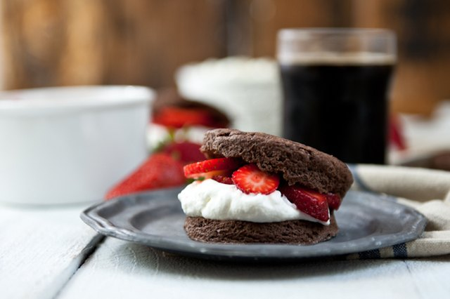 Chocolate Stout Strawberry Shortcakes