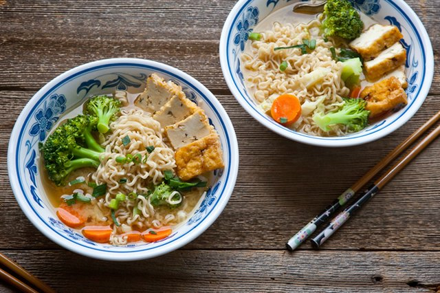 Miso Noodle Soup with Vegetables and Tofu