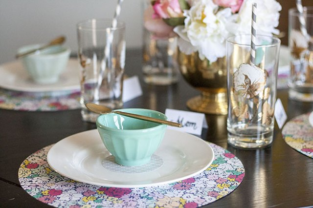 Set the Table for Mother's Day Using Some Paper and Your Imagination