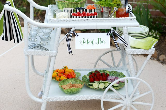 4 Ways to Build a Beautiful Salad Bar for a Stylish Summer Soiree
