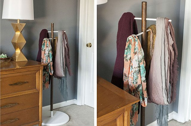 Transform Simple Wooden Dowel Rods Into a Sleek Scarf Stand