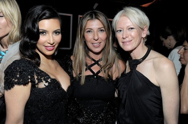 "Reality star Kim Kardashian, fashion director Nina Garcia and editor-in-chief of ""Marie Claire"" Joanna Coles have glowing skin at the Golden Globes in 2012."