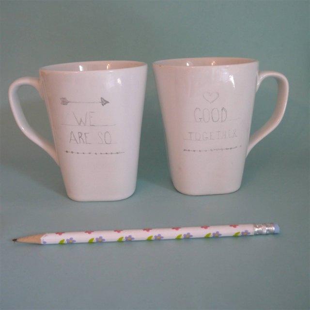 , Romantic Mug Set for Valentine's day