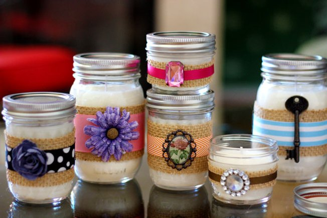 [Article Image] - Decorative DIY Candles in Mason Jars