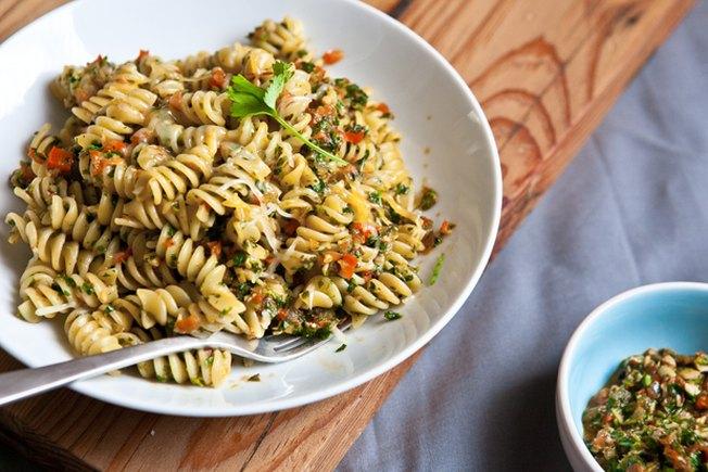 [Article Image] - Chipotle Cilantro Pesto Pasta