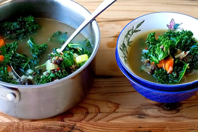 [Article Image] - French Lentil and Kale Soup