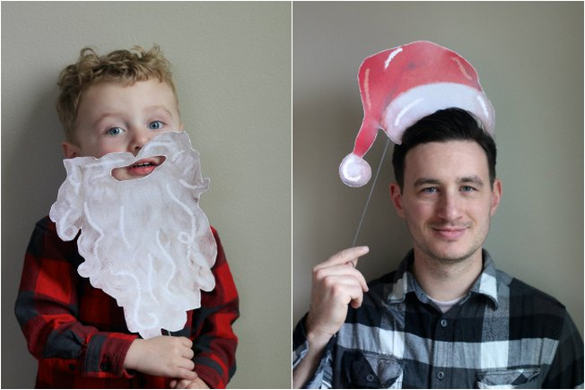[Article Image] - Free Printable Xmas Photo Booth Props