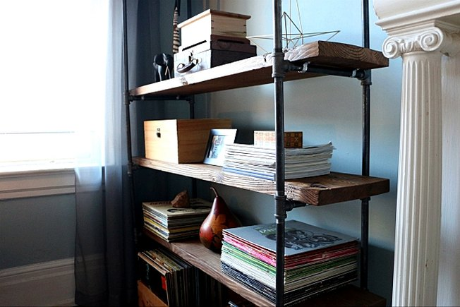 [Article Image] - Make a Plumbing Pipe Bookshelf
