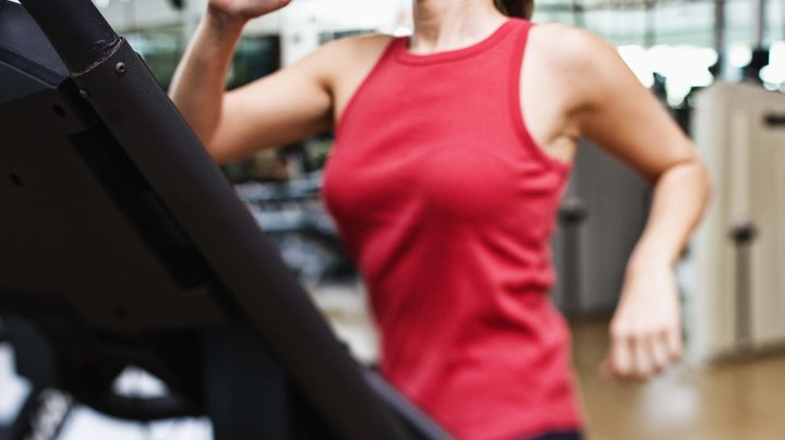 Your treadmill is a great tool for training your cardiovascular system and burning calories. It can also offer benefits for improving your muscle tone and strength in your legs, buttocks and abdominal muscles. But to get the maximal benefits, you will have to pick up your pace and run rather than walk.