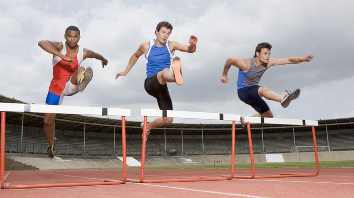 The 300-meter hurdles race is a prominent part of most track and field competitions. Most 300-meter hurdlers run both shorter and longer events. Training for the 300-meter hurdles can take extra effort, however, by those who typically compete in the shorter events. To run a faster 300-meter hurdle, you must increase not only your muscular fitness but your stamina and technique in running and leaping over the hurdles.
