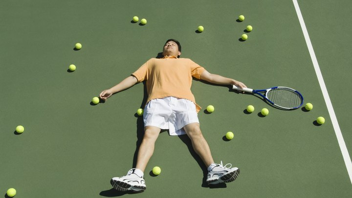 Training too hard or too long can lead to both mental and physical problems that can decrease your performance and even end your time on the tennis court. In addition to fatigue, cramping and other problems associated with hard workouts, burnout and wrist, elbow and shoulder injuries are common problems among regular tennis players. Training smarter, not harder, is the key to success in tennis.