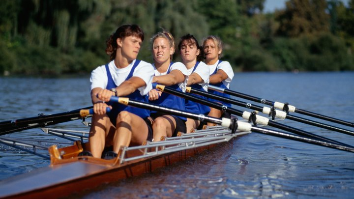 Women rowers must have atypical strength, power and endurance to excel in the sport of crew, or rowing. Powerful arm strength and impeccable technique is required to propel the boat smoothly at top speed. Female rowers must fall into a range of strict body requirements to keep the boat moving swiftly without dead weight.