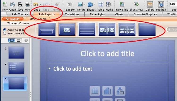 PowerPoint Slide Layout Options