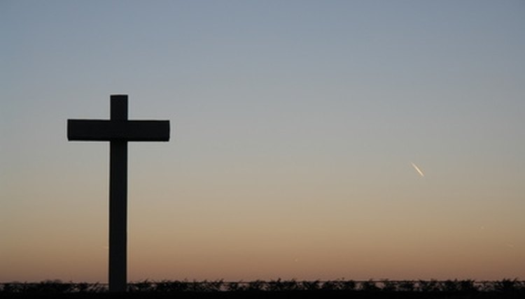Cross at nightfall