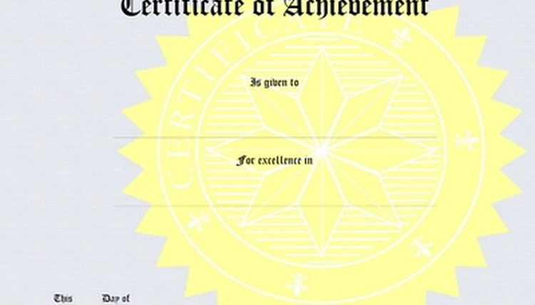 Award certificates can motivate students to continue achieving.