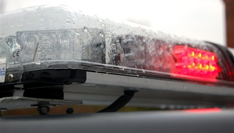 Police patrol car lights have specific purposes.