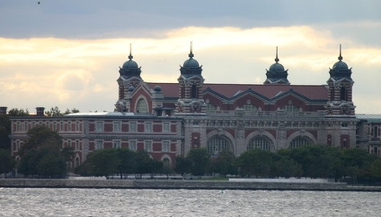 Ellis Island, where early immigrants were cleared for residency.
