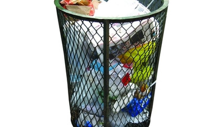 Trash in landfills takes years to decompose.