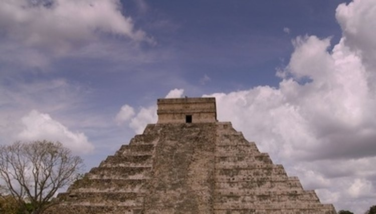 Study the ancient Aztec pyramid and build your own model.