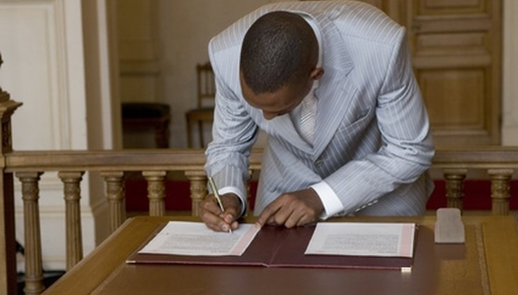 A Notary Public should witness the signing of a document.