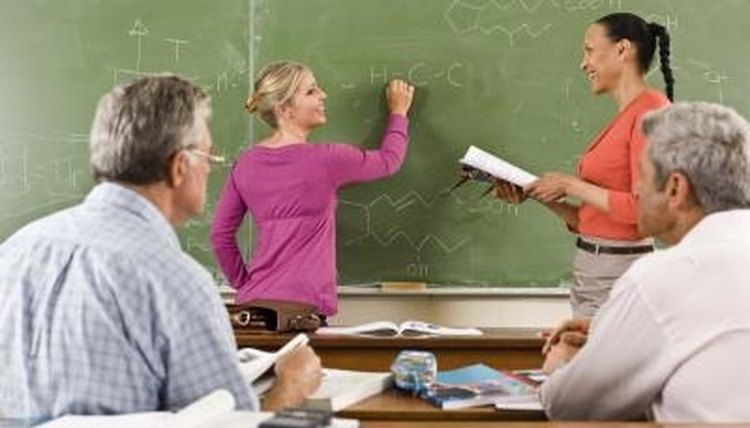 The adult classroom incorporates a number of teaching techniques.
