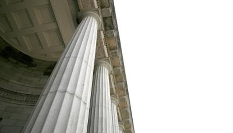 Column styles are similar in Greek and Roman architecture.