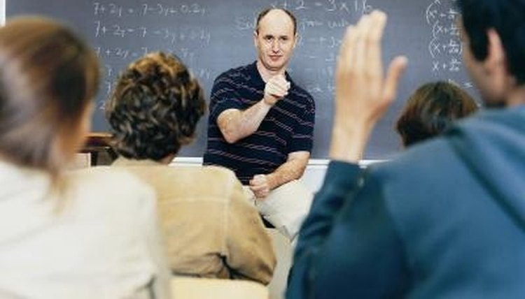 College professors often work within particular scholarly disciplines, such as mathematics.