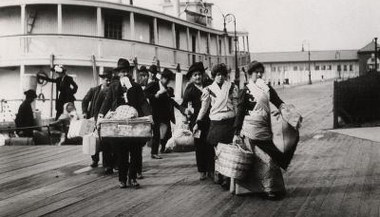 Many early 20th century immigrants landed at Ellis Island in New York City.