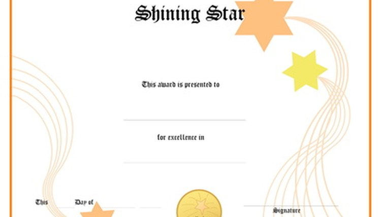 Safety Award Certificates | Synonym