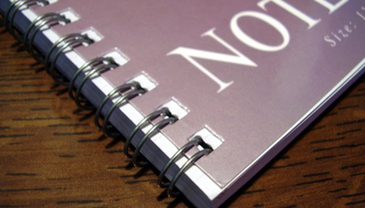 "Notebooks with spiral or sewn bindings are strongly preferred over ""loose leaf"" notebooks."