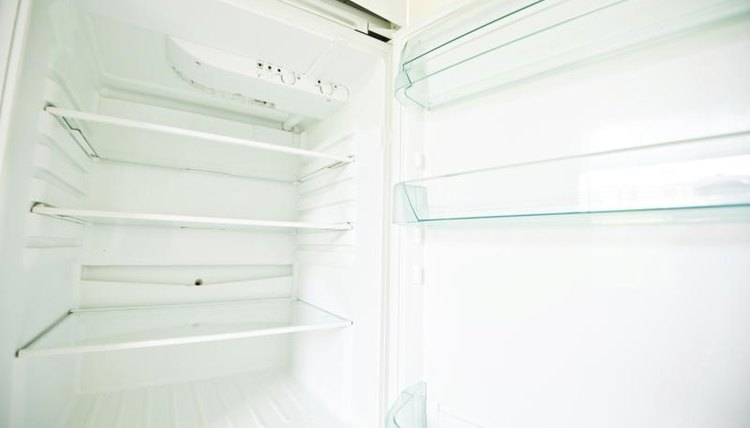 Inside of empty refrigerator
