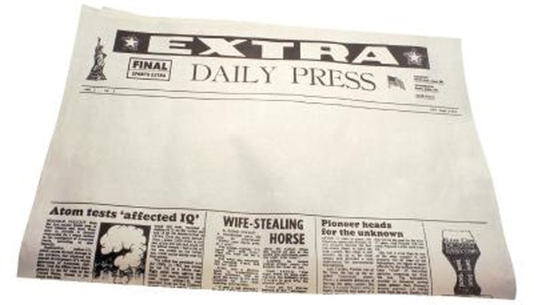 Hearst and Pulitzer used sensationalistic headlines to best each other in readership.