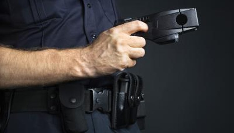 Stun guns are carried by police officers as well as civilians.