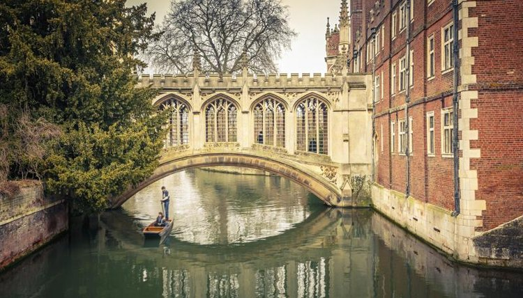 St. John's College Bridge at Cambridge.