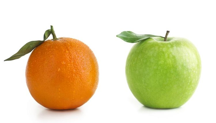 "The ""apples and oranges"" idiom exists in many languages, including French and Spanish."
