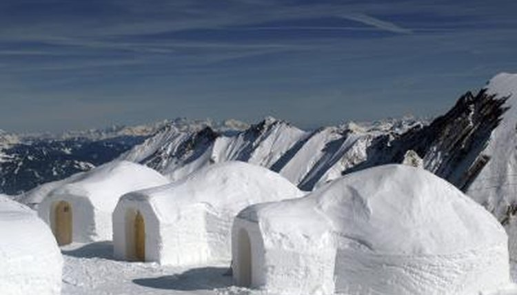 Igloos in the snow