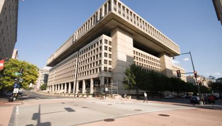 Image of the FBI Building.