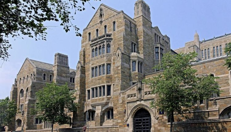 A building on the Yale University campus in New Haven, CT