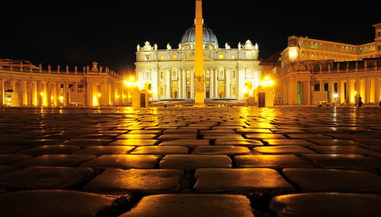 St. Peter's Basilica in Vatican City, the Papal enclave in Rome.