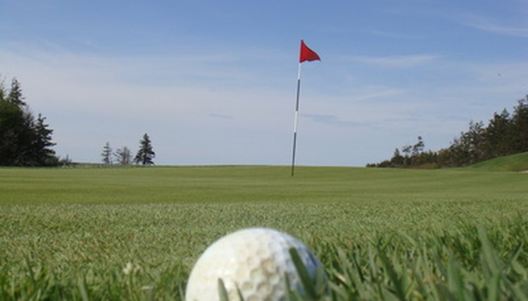 Softer golf balls are ideal for shots around the green.